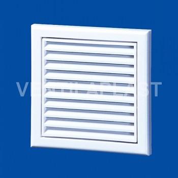 Plastová větrací mřížka VP MV 100 Vs (se síťkou a kruhovým nástavcem)