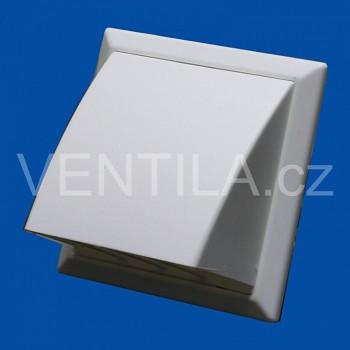 Větrací mřížka protidešťová bílá VP 55x110/154x154 HPMb